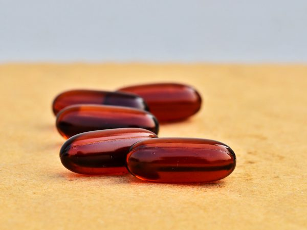 Bright brown capsules with shallow focus
